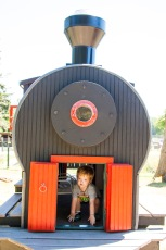 You have no idea how much this kid loves a good choo choo.