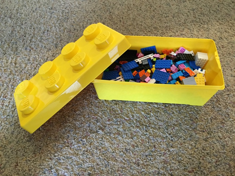 That's right. A great big box of Legos. Because I'm 5.