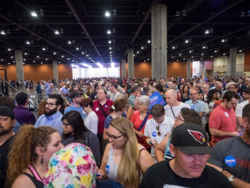 We had well over 11,000 attendees. The hall wasn't even half filled at this point.